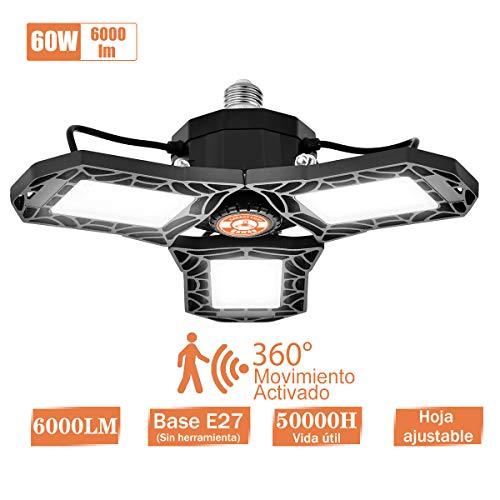 Lámpara Garaje Inductivo LED E27 Bawoo 60W Radar Lámpara