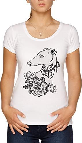 Vendax Seremos Libres - Greyhound T-Shirt Donna Bianco