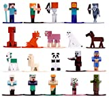 Jada Toys 253265001 Minecraft-Pack of 20 Die-Cast Figures-1.65 Inches/4cm