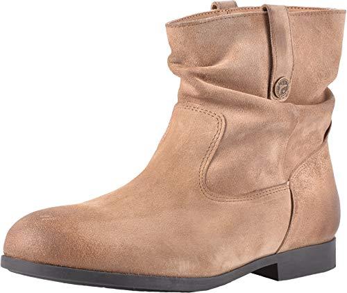Birkenstock Women's Sarnia Boot Taupe Waxed Suede Size 36 M EU