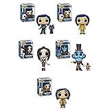 FunkoPOP Coraline: Coraline (Raincoat) + Coraline (Doll) + Coraline w/ Raincoat + Mr. Bobinsky...