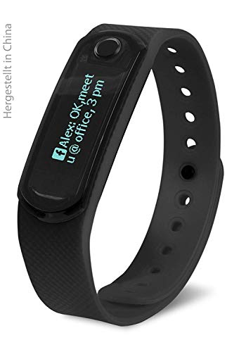 Swisstone SW 300 Fitnessarmband (inkl. 2 Bio TPU Wechselarmbänder, Smart-Wearable, Bluetooth Funktion) schwarz