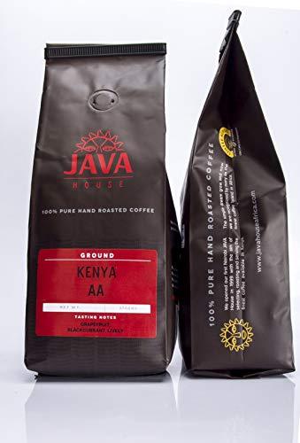 Kenya AA Coffee. Ground Coffee Beans. Fresh Roasted Coffee. 100% Single Source Fair Trade Kenyan Coffee with verifiable Coffee Kenya Mark of Origin by Java House Africa (13.23oz/375gms) (2)