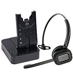 small Wireless headsets compatible with Polycom VVX300, VVX310, VVX400, VVX410 – desktop office phones…