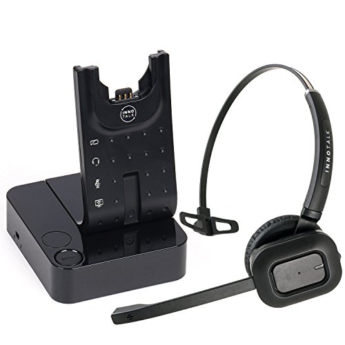Wireless Headset Compatible with Polycom VVX 101, VVX 201, VVX 301, VVX 311, VVX 401, VVX 411, VVX 501, VVX 601 Phone with Remote Answering Cord(Pioneer)