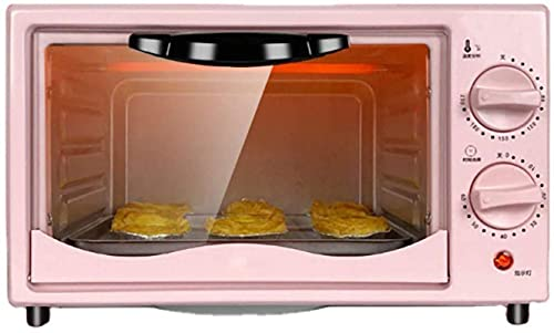 Horno de tostadora Mini, 100-250 ℃ Control de temperatura de área de ancho de 60 minutos, horno con control de temperatura ajustable, barbacoa multifuncional, 220V