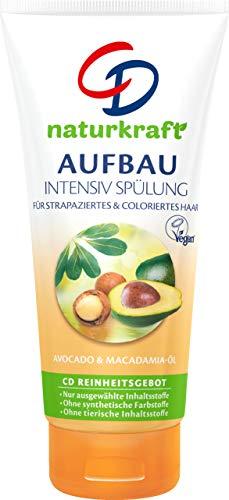 CD Naturkraft Aufbau Intensiv Spülung Avocado & Macadamia-Öl/Vegan, 6er Pack(6 x 200 ml)