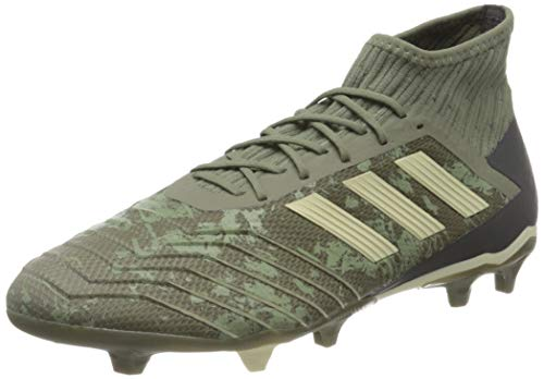 adidas Mens Predator 19.2 FG Football Shoe, Legacy Green/Sand/Solar Yellow,EU44