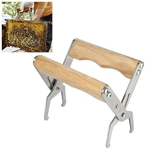 BovoYa Edelstahl Bienenstock Werkzeug Rahmen mit Griff Rahmen Heber Greifer und Rahmenhalter Schaber-Imkereiausrüstung für Imker