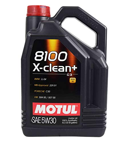 Motul 106377 8100 X-Clean+ 5W-30 Motor Oil 5-Liter Bottles