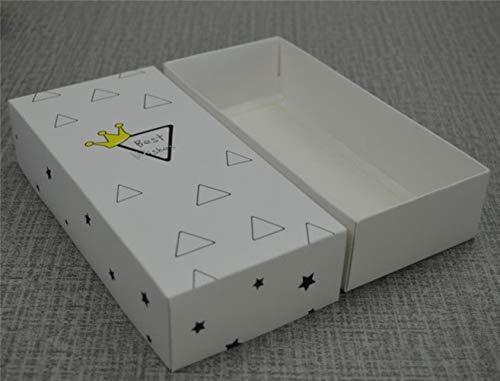 Caja de Papel Blanco con Tapa, 10 Unidades, Cajas de Regalo Grandes,...