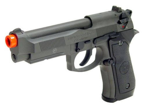 hfc m9 full metal gas blowback airsoft pistol semi/full auto built-in rail(Airsoft Gun)