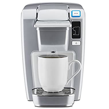 Keurig K15 Single Serve Compact K-Cup Pod Coffee Maker, Platinum