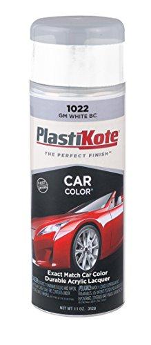 PlastiKote 1022 GM White Base Coat Automotive Touch-Up Paint - 11 oz.