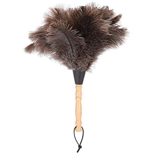 GAESHOW Anti-statische herbruikbare houten handvat struisvogel veer Duster Stofverwijdering Reiniging Tool Herbruikbare…