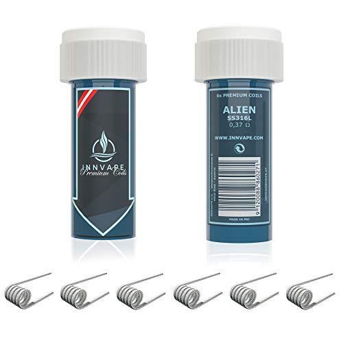 6x INNVAPE Premium Coils für Selbstwickelverdampfer RDTA RTA RDA (Alien SS316L)
