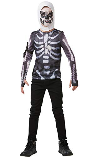 Fortnite - Disfraz camiseta Skull Trooper para niño, Large - 164 cm
