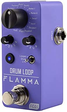 FLAMMA FC01 Mini Guitar Pedal Drum Machine Phrase Loop Pedal Effects Pedal With 20 Minutes Recording product image