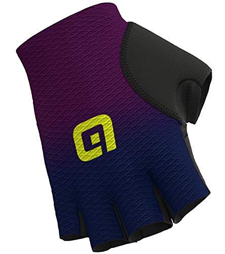 guanti in rete alé guanti da ciclismo traspiranti per donna e uomo blu/viola, dimensione:S