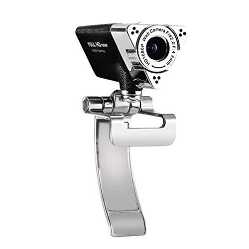 SSCYHT Webcam 1080P, Micrófono De Reducción De Ruido, Diseño Plegable, Giratorio De 360 Grados, Cámara De La Computadora Portátil USB