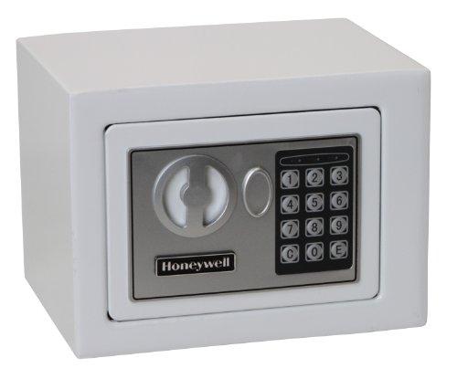 Honeywell Safes & Door Locks 5005W HONEYWELL-5005W Steel Security Safe with Digital Lock, 0.17-Cubic Feet, White, 0.17 Cubic Feet