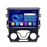 DSAK Coche GPS Navigator Auto Radio Es Adecuado para Ford Mondeo 2013-2017 Android Player Multimedia GPS Navigation 4G + 64G