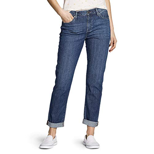 Eddie Bauer Women's Boyfriend Jeans - Slim Leg, Heritage Wash Regular 12