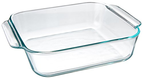 "Pyrex KC35587 FBA_1105395 Basics 8.1"" Square (2 Quart), 8 inch, Clear"