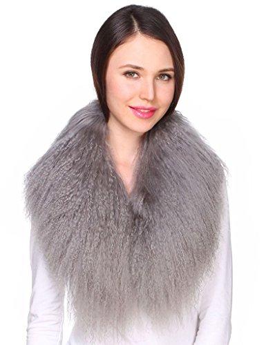 Ferand für Damen Echter Luxuriöser Pelzkragen aus Hochqualitativer Mongolischer Lammwolle für Mäntel