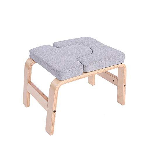 Best Price YJXUSHYQ Yoga Stool Yoga Headstand Bench Yoga Inversion Chair Stool Handstand for Family ...