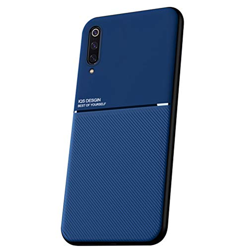Capa Grandcase Mi 9 SE, capa ultrafina de silicone macio TPU Fashion Line padrão durável leve absorção de choque capa de proteção para Xiaomi Mi 9 SE 6 polegadas – Azul