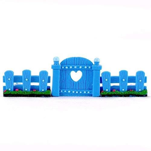 HONIC 3Pcs / Set-Fee Gartenzaun Tür Geländer Dekoration Miniatur-Figuren Micro Blumentopf Dekor Bonsai Terrarium Ornaments Startseite