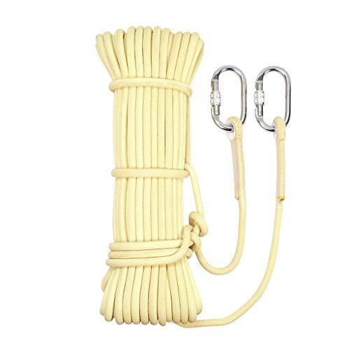 ZSM Regla Cuerda de Escalada Cuerda Que acampa/Escalada/Senderismo/M Buceo Opcional Desgaste de tamaño Crema Cuerda de Escalada (Tamaño: 6mm 30m) YMIK