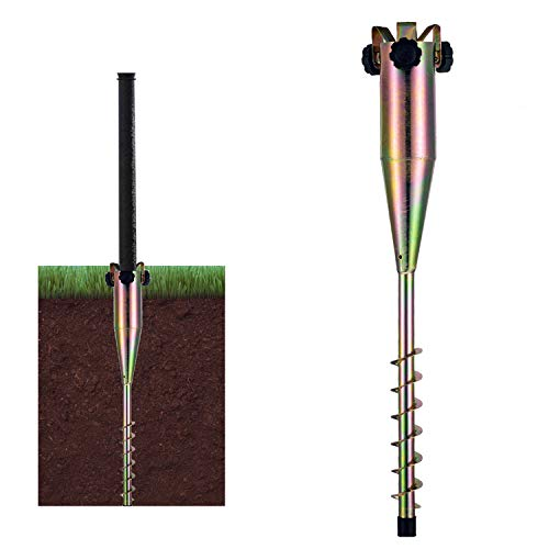 LamYHeng 22inch Long Soild Metal Rod Holder Beach Garden Parasol Umbrella Sand Flag Pole Holder...