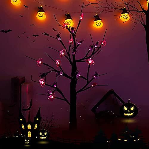 GDYJP Víspera de Todos los Santos DIRIGIÓ Luces, Lámpara de Noche de árboles de bonsái Artificial, para iluminación Dormitorios de Escritorio Halloween Party Bricolaje Decoración, Colgante Creativo