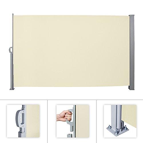 HG® toldo lateral markiseterrassenwindschutz g lateral Wind-Aluminio, beige