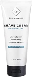 Blind Barber Watermint Gin Shave Cream - Protective Shaving Lather for Men, Sensitive & All Skin Types (3.2oz / 100ml)