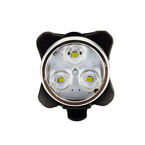 HXIANG 4 Modes fietslicht, ingebouwde batterij oplaadbare USB LED fiets licht zaklamp met Mount fietsaccessoires (Color : White light)