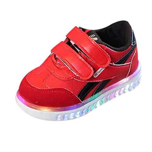 Baby Mädchen Jungen Unisex Kleinkind Schuhe Mode Kinder Sneaker Krabbelschuhe Kind Bunte helle Schuhe Kinder Schuhe mit Licht Led Leuchtende Blinkende Turnschuhe Wander Outdoor Sportschuhe