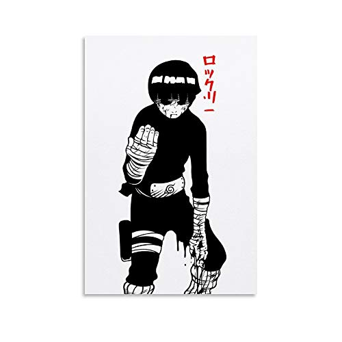 JINGHANG Minimalist Anime Rock Lee Poster Decorative Painting Canvas Wall Art Living Room Posters Bedroom Painting 12x18inch(30x45cm)