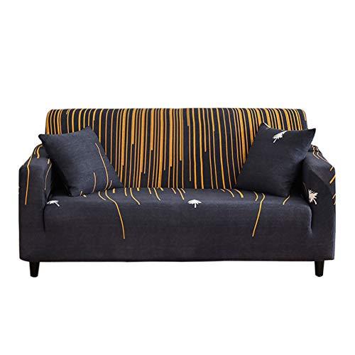 HOTNIU Elastischer Sesselbezug Stretch Sofa-Überwürfe Sofaüberzug Sesselhusse Sofabezug Sofa Abdeckung Hussen für Couch Sessel in Verschiedene Größe und Farbe (3 Sitzer, Muster YHS)