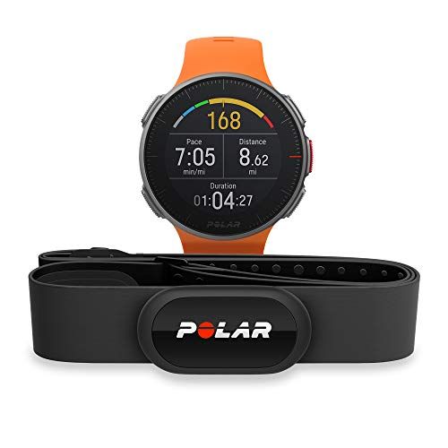 POLAR VANTAGE V – Premium GPS Multisport Watch for Multisport & Triathlon Training (Heart Rate Monitor, Running Power, Waterproof), Pro (Includes H10 HRM Chest Strap), Black