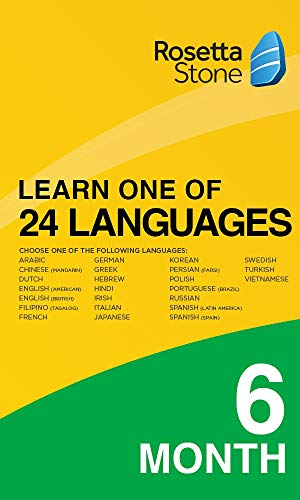 Rosetta Stone: Learn 1 of 24 Languages | 1 User | 6 Months | PC/Mac | Activation Code by email