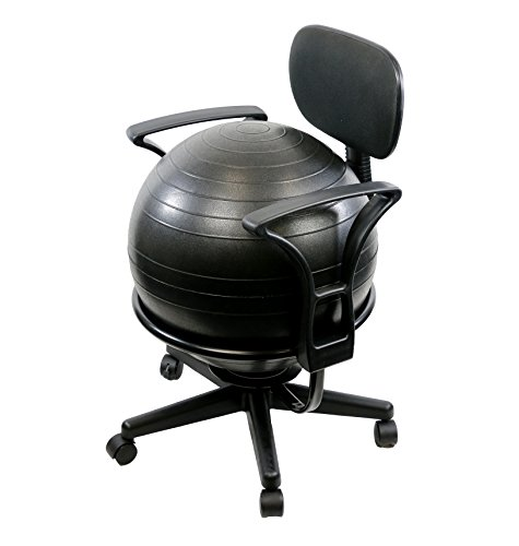 CanDo Metal Ball Chair, 22' with Arms