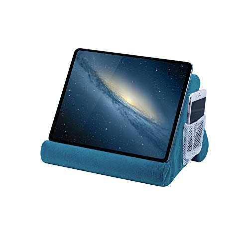 Mcbazel Tablet Pillow Stand for IPad Cushion Stand, Soft Multi-Angle Phone Pillow Lap Stand Holder for Tablet/iPad/E-Reader - Lake Blue