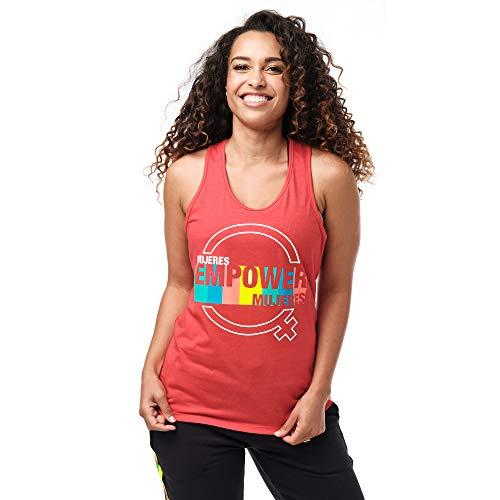 Zumba Suave Entrenamient Racerback Tops Mujer Activewear Ropa Hippie Top Deportivo De Moda, Ruby Power, XL