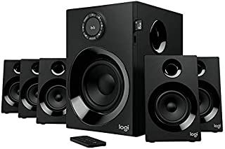 Logitech Z607 5.1 Surround Sound Speakers (Bluetooth, RCA, 160 W Peak, Remote Control, Compatible with Computers, PC, TVs, Phones and Tablets)