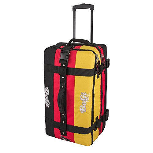 BoGi Bag Travel bag Travel case Germany Luggage case, 72 cm, 85 L, black / red / gold