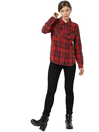 ONLY dames hemd ONLROCK IT REG LS CHECK DNM SHIRT GUA