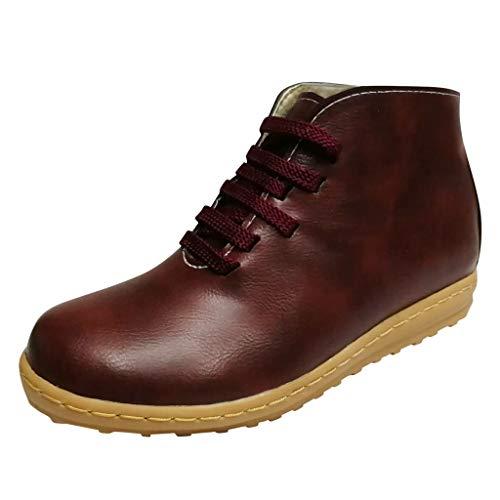 Vovotrade Chelsea Boots Dames korte schacht veterlaarzen dames leren laarzen platte schoenen waterdichte antislip schoenen winter outdoor ankle boots